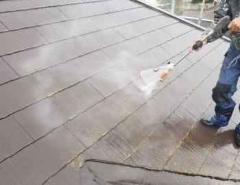 屋根・高圧洗浄作業