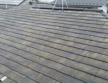 【コロニアル屋根】高圧洗浄後