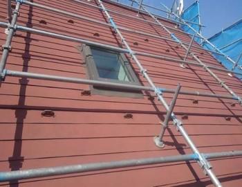 屋根足場架設