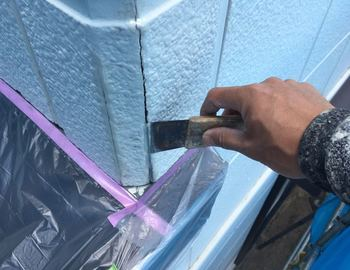 外壁クラック補修1
