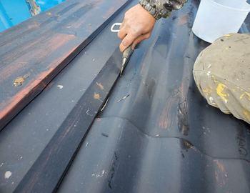 屋根下地補修1