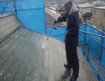 【カバー工法】高圧洗浄