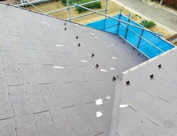 屋根破損箇所補修後
